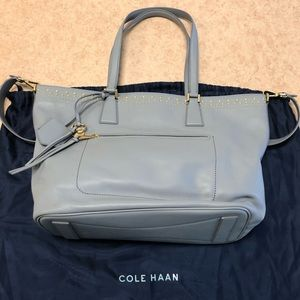 Cole Haan Grey Leather Tote